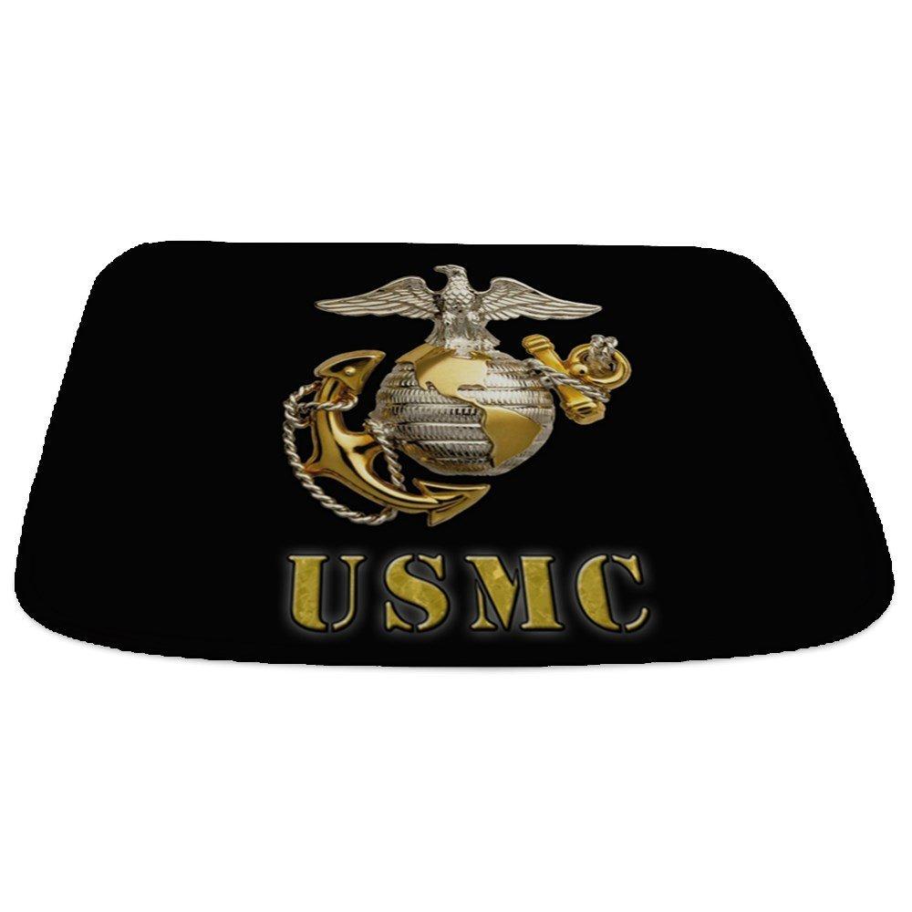 6d48368c111 CafePress - USMC Eagle Globe And Seal - Decorative Bathmat