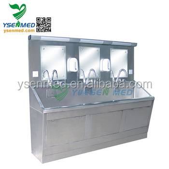 YSQX-04 Medical mortuary 304 stainless steel cleaning table