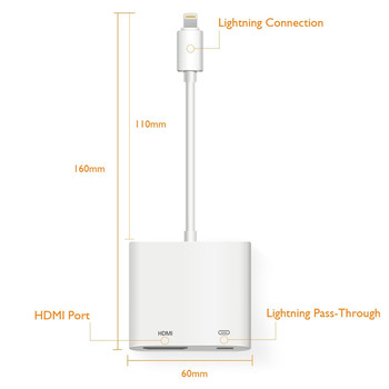 brand new 362c7 f6e80 For Iphone X To Hdmi Adapter Without Delay,For Iphone Male To Hdmi Female  Video Digital Av Adapter With Charging Port - Buy For Iphone X To Hdmi ...