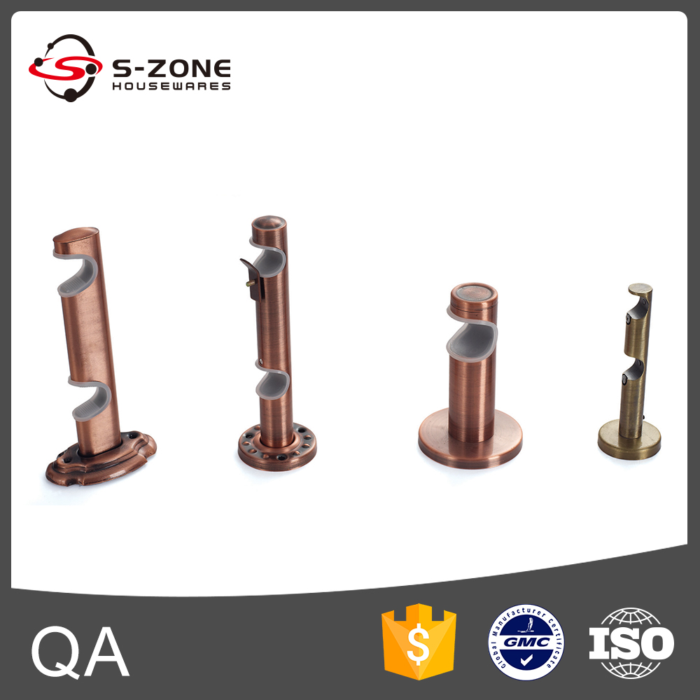 Curtain rod styles - Different Styles Of Curtain Rods Accessories Double Aluminum Curtian Rod Brackets