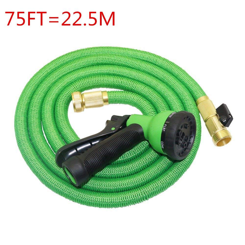 Boens 75FT Garden Hose Expandable Magic Flexible Hose For Car Water Gardening Watering Brass Connector 8-pattern Nozzle for Watering Plants,Showering Pets,Cleaning Patio,Cleaning Car