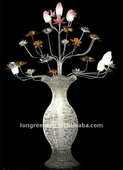 Beautiful Metal Flower Design Modern Table Lamp For New Year Lrf043
