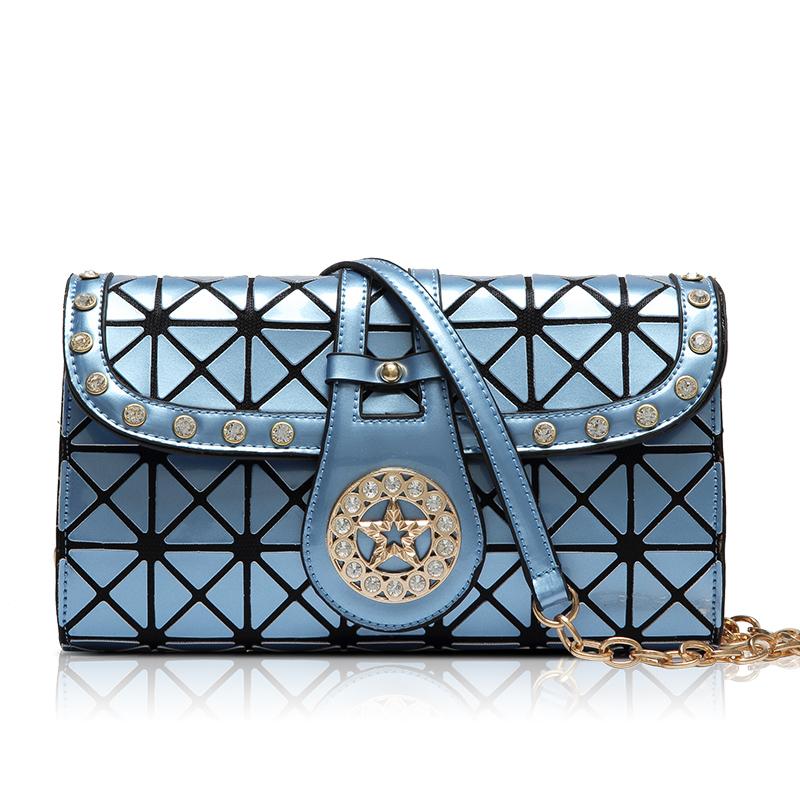 Get Quotations · 2015 New Women Fashion BAOBAO Bag Clutch Geometry Package  Sequins Saser Plain Folding Handbags briefcase Shoulder 69bc74bcb1c98