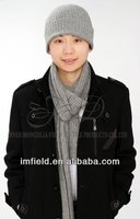 Winter 2*2 Rib Knitting Cashmere Hat and Scarf