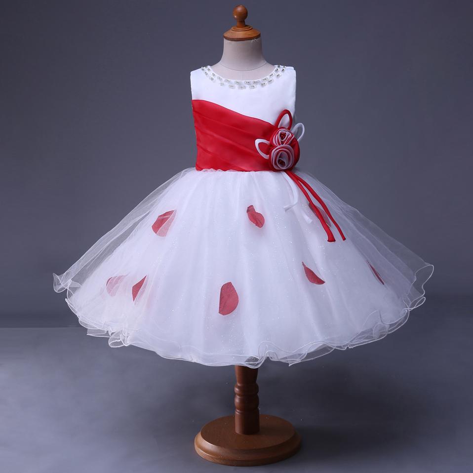 Venta al por mayor vestidos con tul y petalos-Compre online los ...