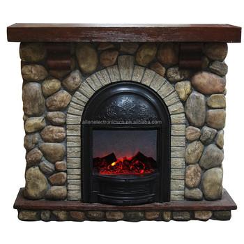 piedra efecto falso llama chimenea elctrica con imitacin de piedra chimenea cheminee electrique