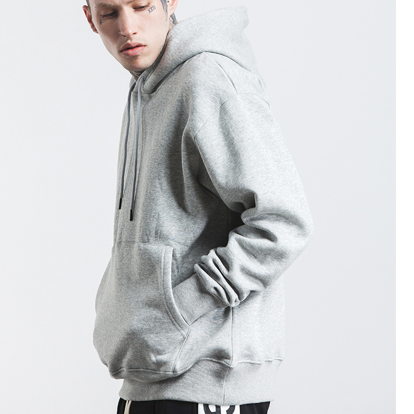 Wholesale yellow cotton fleece mens blank pullover hoodie and sweatshirt