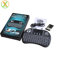 2020 Hot selling Backlight 2.4GHz i8 mini Wireless Keyboard Touch Pad i8 air fly mouse Backlit Keyboard for android tv box