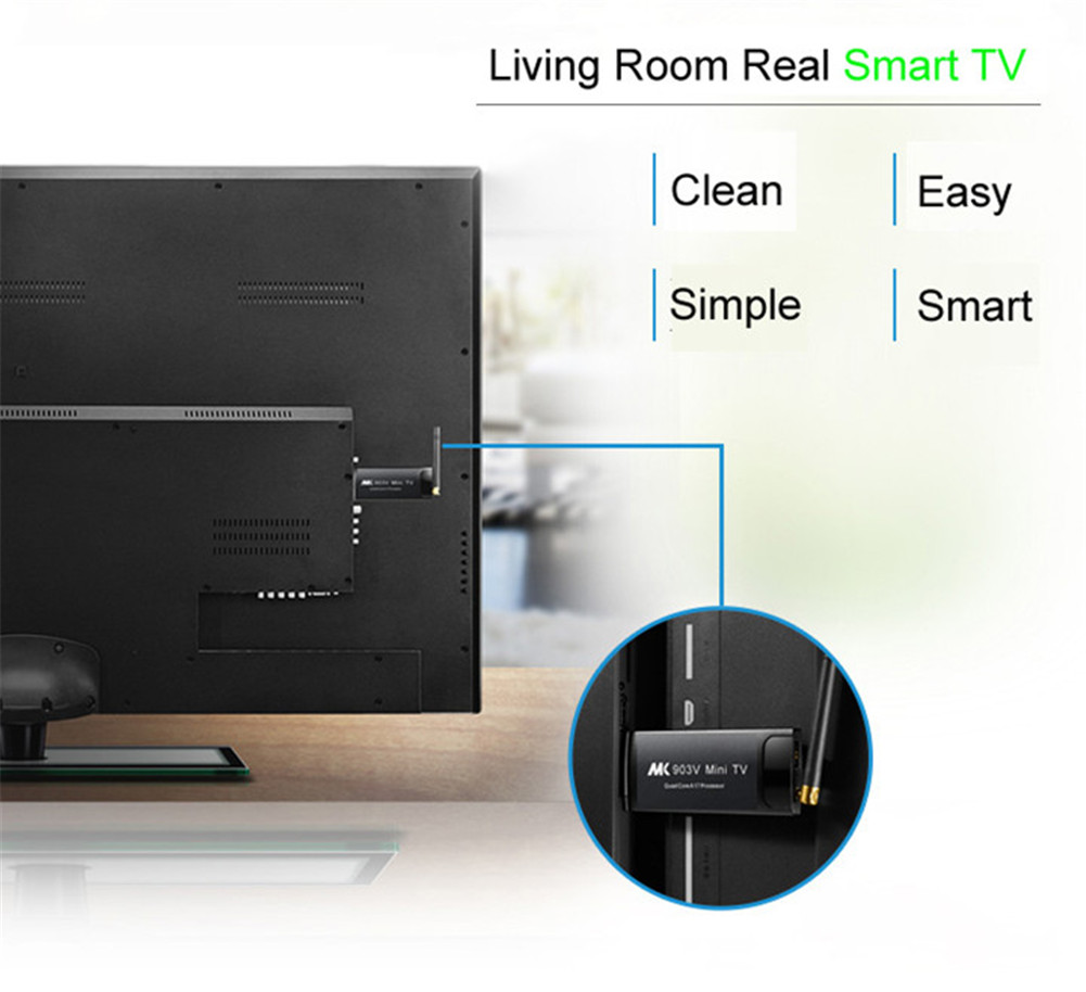 2019 Quad Core Android mini PC MK903V RK3288 2G 8G android 4.4 set top box with wifi full HD TV STICK mini PC