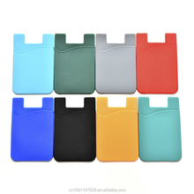 silicone wallet 3M adhesive mobile phone pocket Genneral smart phone accessories