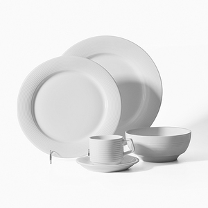 China Supplier Wedding Microwave Safe White Chinese Style Porcelain Dinnerware, White Dinnerware Sets~