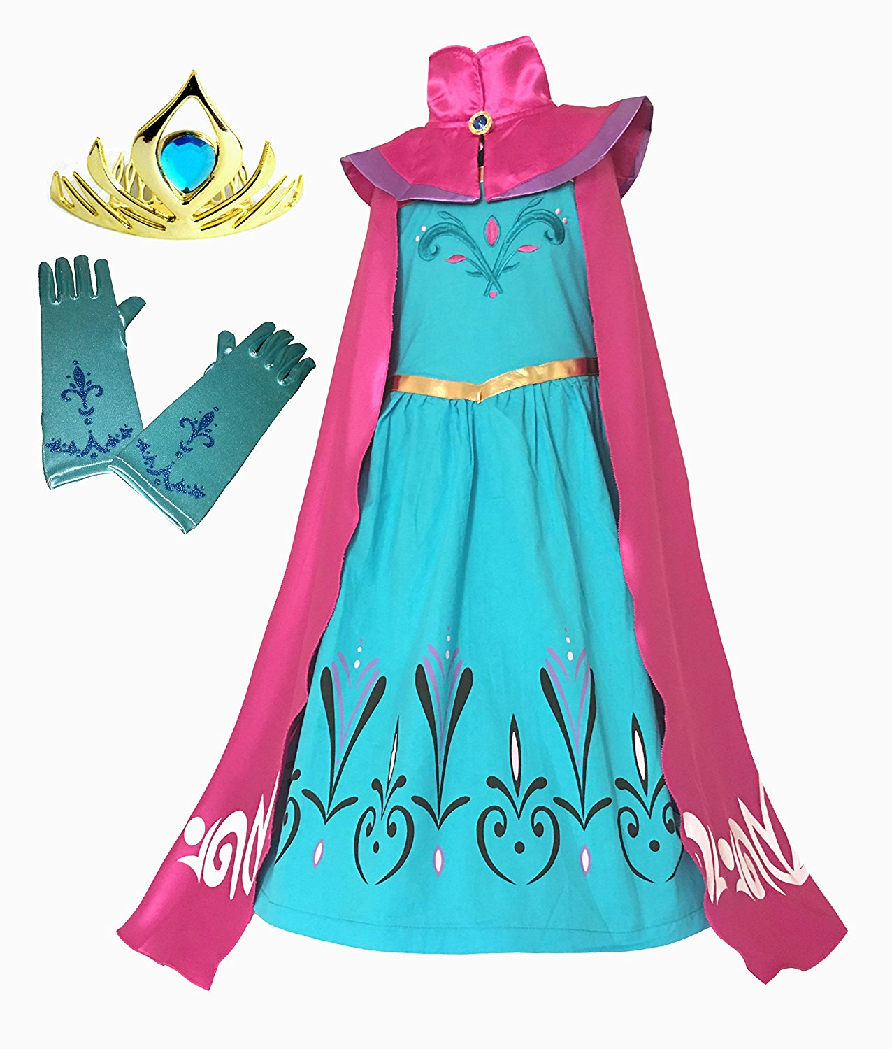 Get Quotations · American vogue Elsa Coronation Dress Costume + Cape + Gloves + Tiara Crown (6 Years  sc 1 st  Alibaba & Cheap Elsa Costume Cape find Elsa Costume Cape deals on line at ...