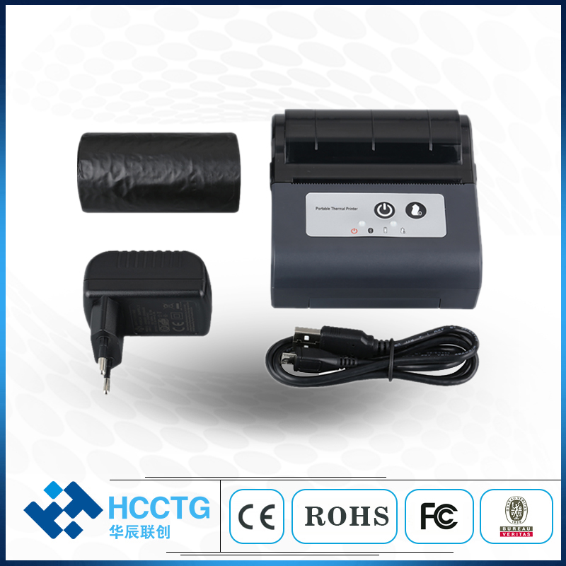 80mm 3 Inch Thermal Printer Machine USB Bluetooth Handheld Portable Printer HCC-T3P-B