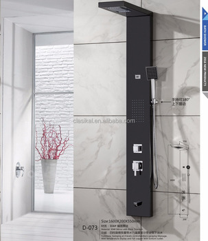 Black Matte Color Four Function With Time Display Electronic Shower Control  Panel