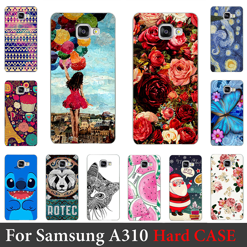 For Samsung Galaxy A310 Case Hard Plastic Mobile Phone Cover Case DIY Color Paitn Cellphone Bag