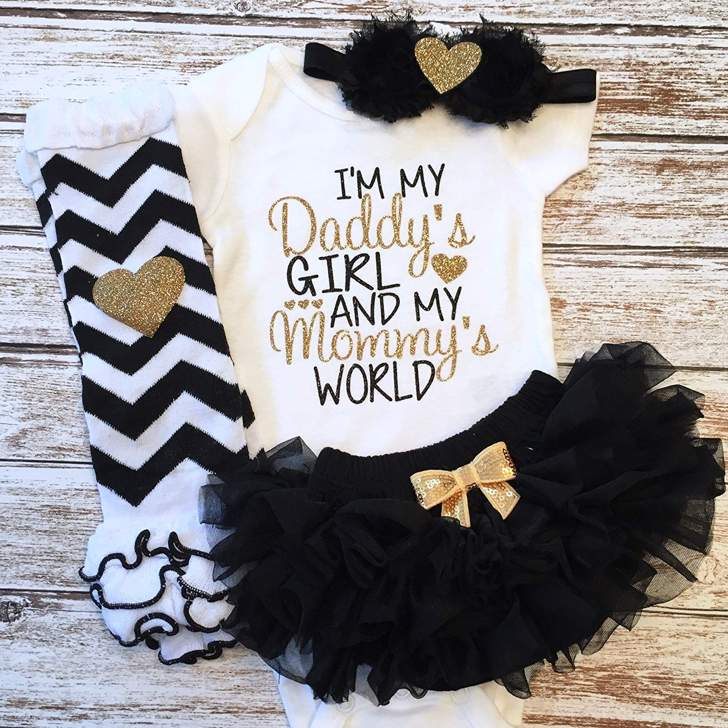 448424c4c Get Quotations · Baby Girl Clothes   I'm My Daddy's Girl And My Mommy's  World   Father's
