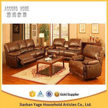 Modern Luxury Full Grain Leather Reclining Sofa Set Buy Lazy Boy