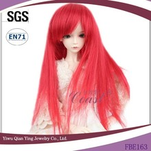 wholesale long red straight synthetic baby doll wigs