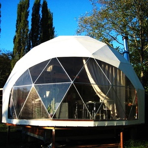 5m diameter dome house canvas rest dome tent for glamping