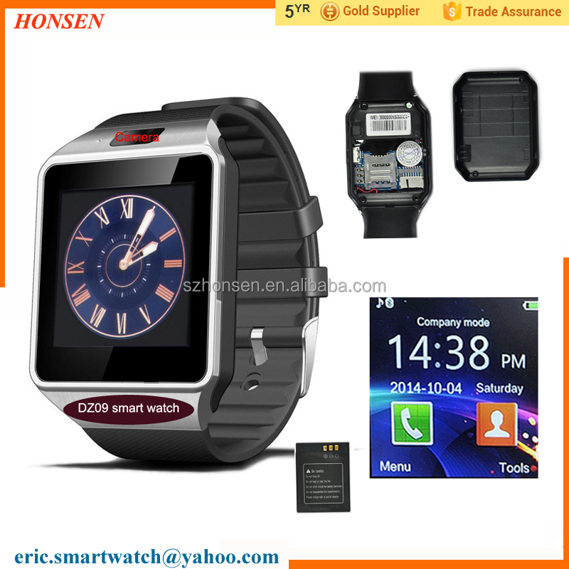 2017 Free shipping DZ09 Smart Watch <strong>phone</strong> with Camera Bluetooth smart watch for Android <strong>phones</strong>