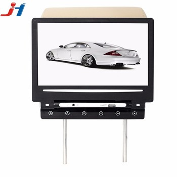 2018 Hot Sale Top Quality Super Slim Car Seat Back Mounted 101 Inch Lcd Monitor With