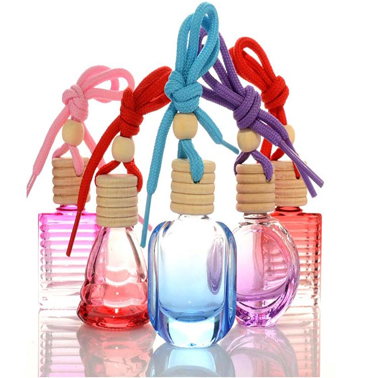 Mig Pack 10ml car hanging colorful perfume wooden cap diffuser glass <strong>bottle</strong> in stock
