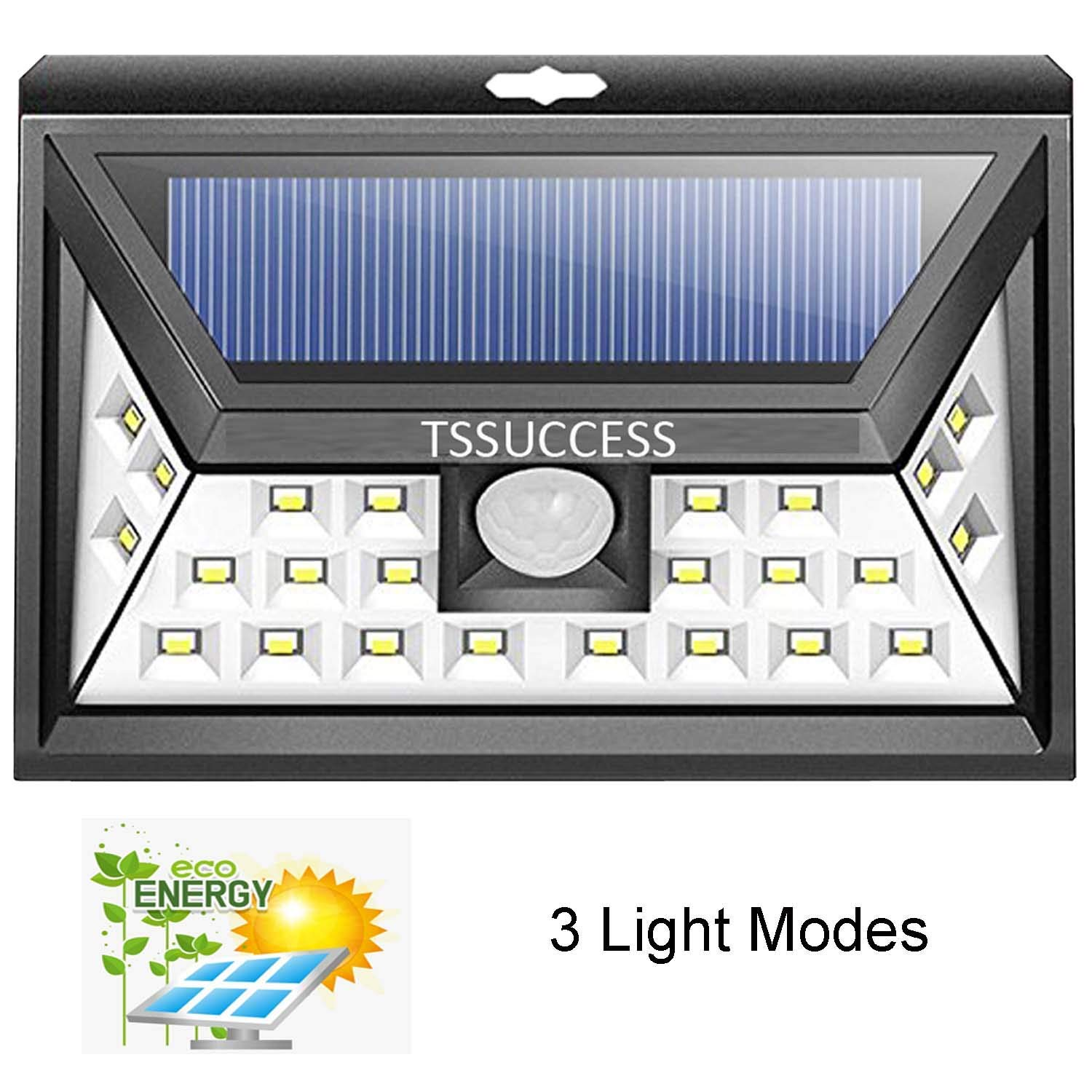 Solar Lights Outdoor - Solar Motion Sensor Light - Wall Light 24 LED - Wireless Waterproof Solar Powered LED Lights Outdoor with Wide Angle Illumination - Night Security LED Patio Lights