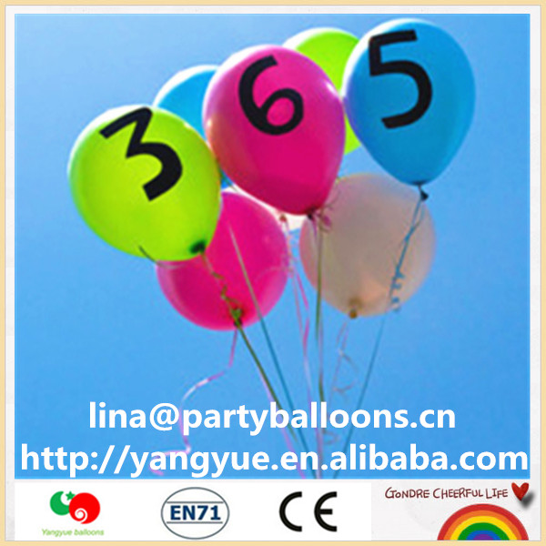 letter printed latex round balloon made in China