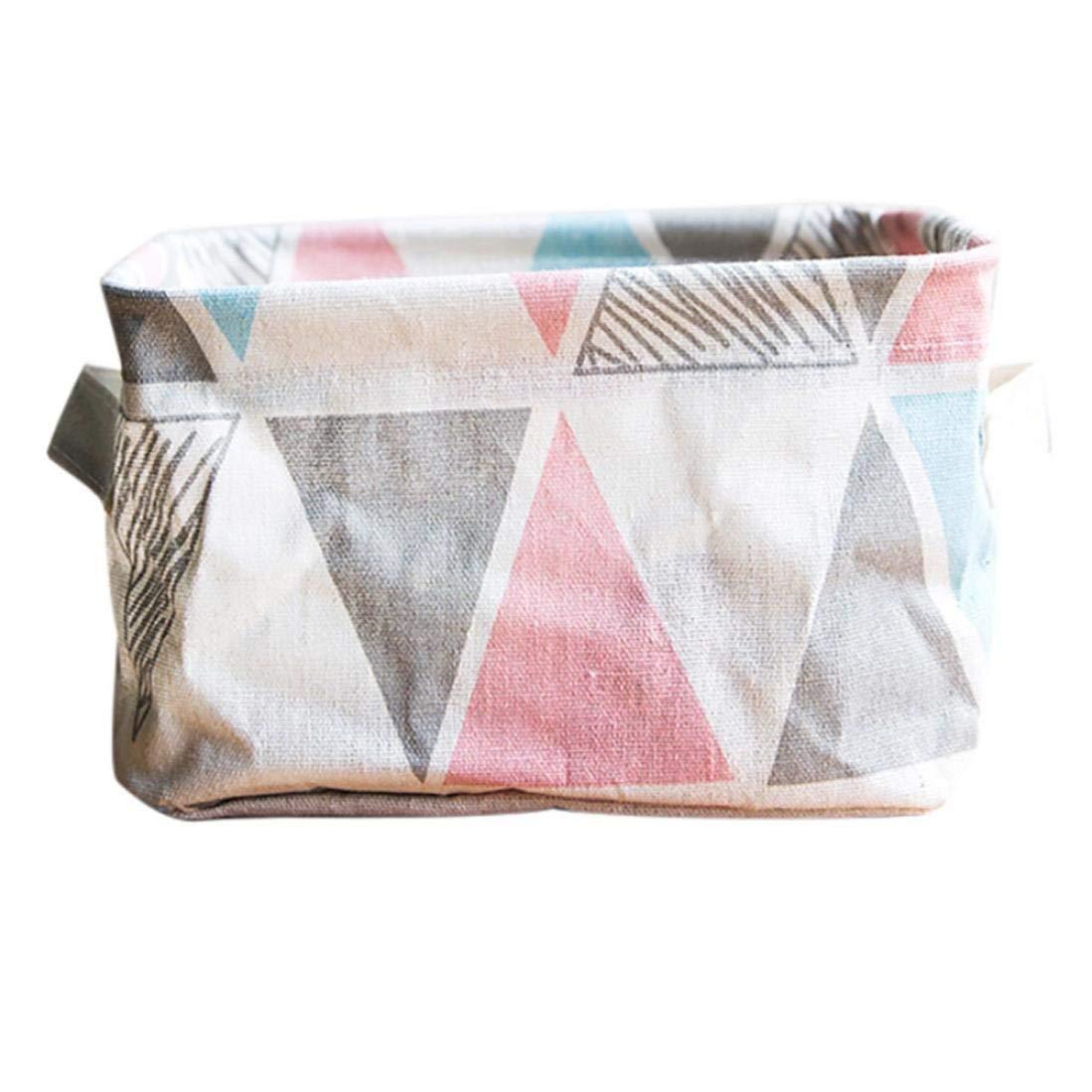 Storage Bins,Yezijin Foldable Colors Storage Bin Closet Toy Box Container Organizer Fabric Basket (Pink)