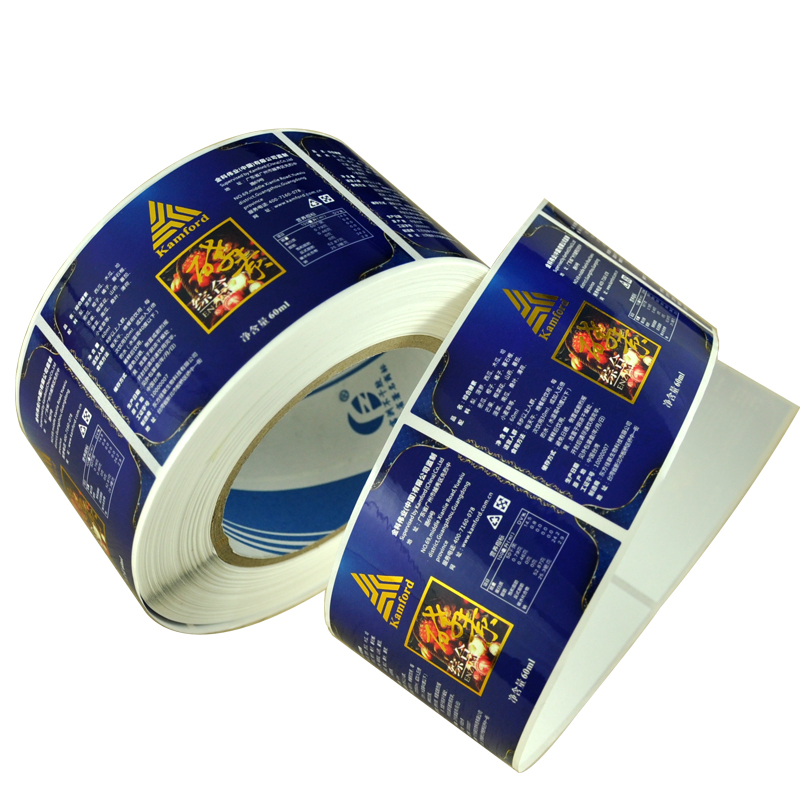Shenzhen Factory Customized Printed Labels For Food Container Vinyl Sticker roll