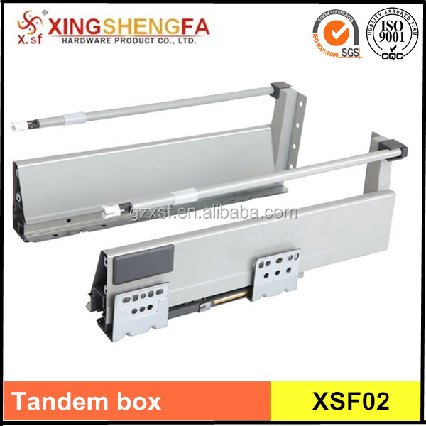 Full extension steel drawer slide,Soft close drawer tandem box