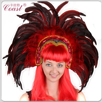 Cheap Carnival Decorative Purple Feather Headwear - Buy ... 8bb85fc3ba1