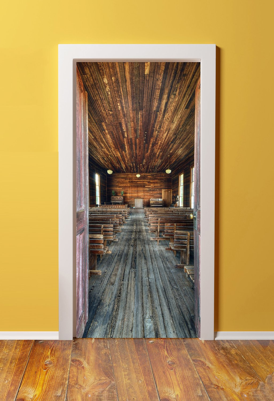 WindowPix 36x80 3D Door (Sticker) Murals   PEEL U0026 STICK   Made From Tear