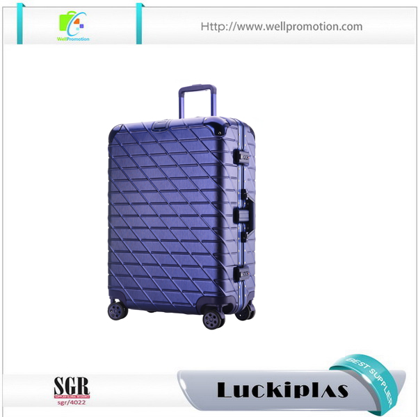 High quality end hardcase spinner luggage abs pc new fashionable TSA Lock aluminum metal suitcase for business travel