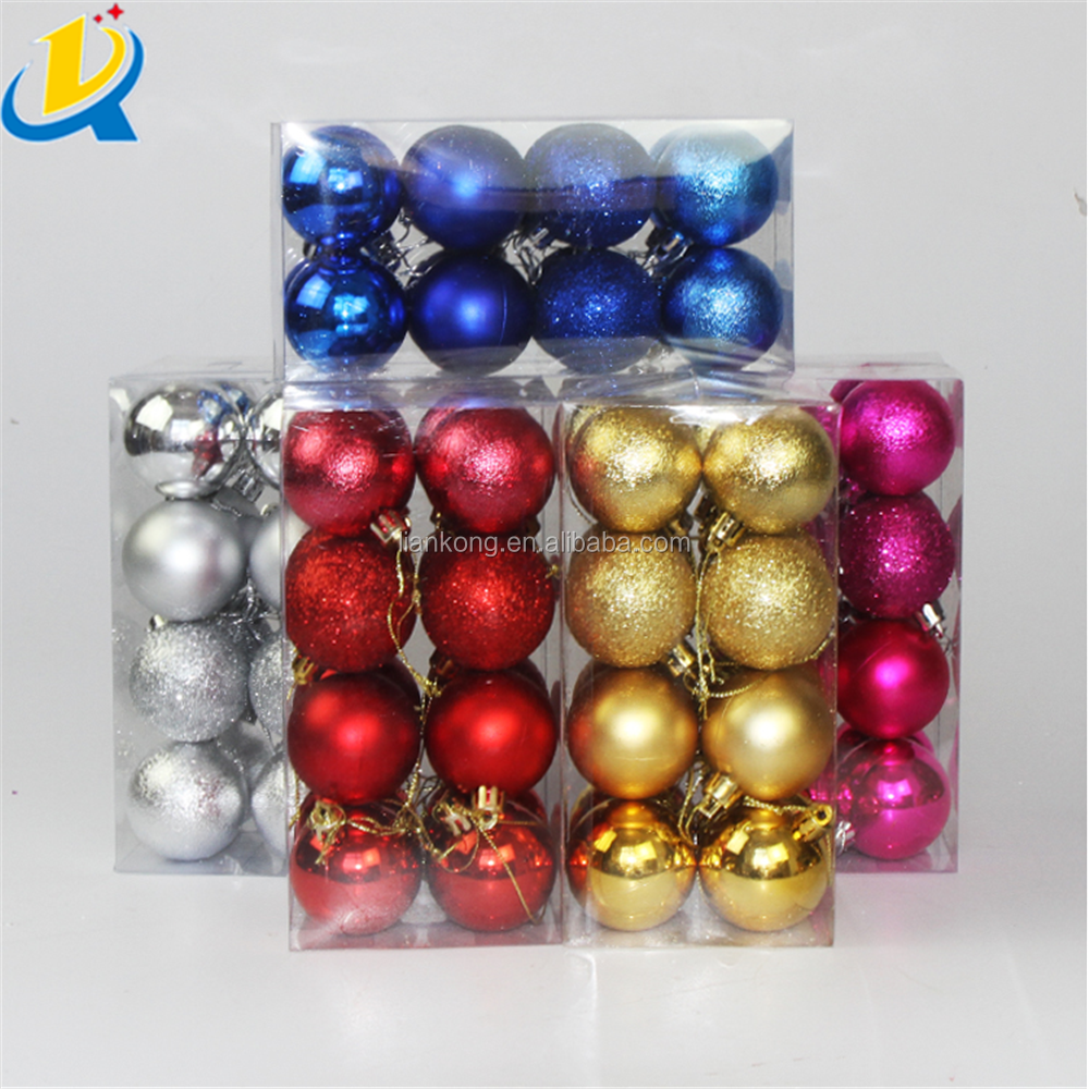 Popular promotion plastic custom Christmas ball ornament