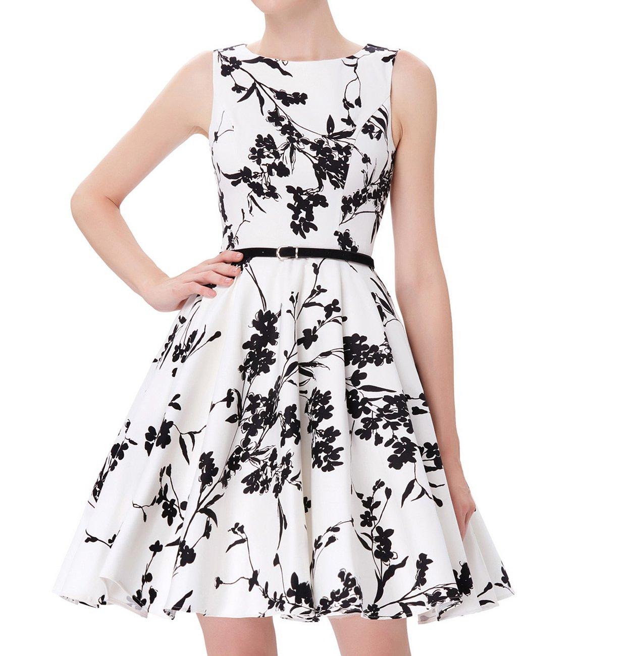 7f5cc787d3 JS Fashion Vintage Dress Women s 1950 s Vintage Sleeveless Swing Dresses by  Grace Karin JS6086