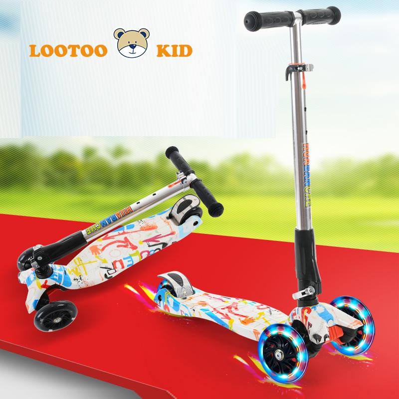 Alibaba trade assurance 4 wheels easy folding kids kick scooters for teenagers