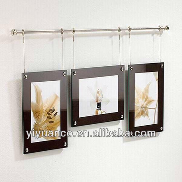 Aluminum wall mounted acrylic poster frames OEM acceptable