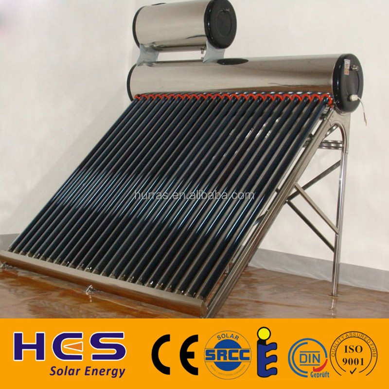 2016 Hes New Thermosiphon Copper Coil Pre-heated Solar Water ...