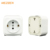 wholesale pop eu type ABS panel mount brass metal 64*120mm 16A kitchen pop up european socket