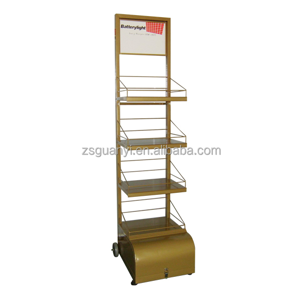 Golden Free standing store display shelf