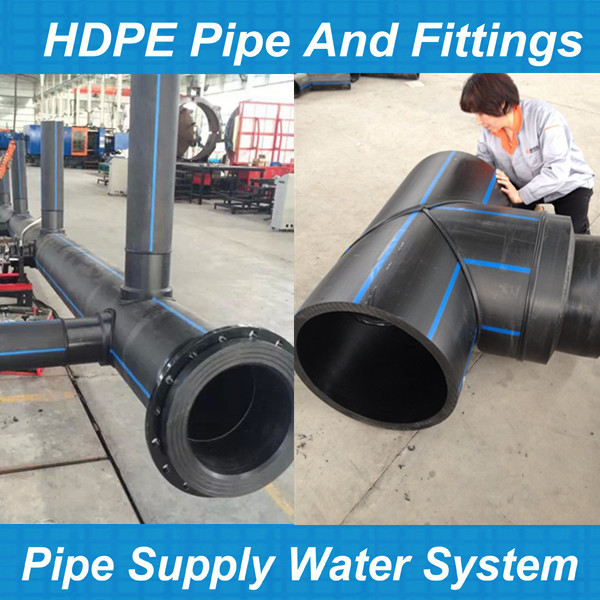 Custom fabrication hdpe socket fusion fittings for water