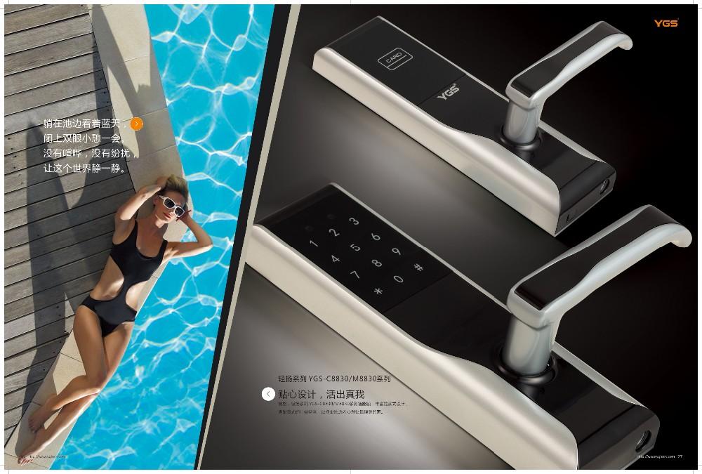 Zinc Alloy Voice Navigation Smart Home Digital Electronic Office Glass Door Lock Japan