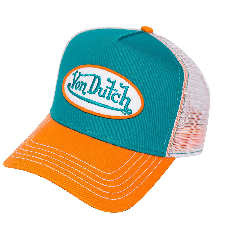 55a40b80659 Get Quotations · Von Dutch Trucker Hat with Logo Patch Baseball Cap