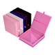 Luxury pinky gatefold silk wedding invitation box with brooch