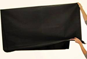 """Large Flat Screen Tv's 42"""" Marine Grade Black Nylon Dust Covers Ideal for Outdoor Locations."""