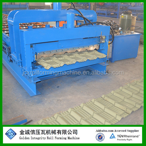 aluminum roofing step tile machine