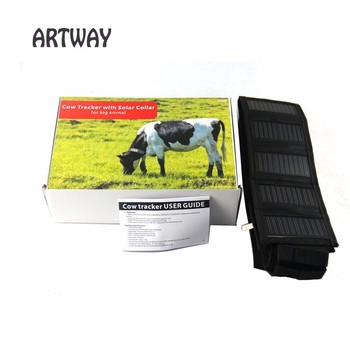 Cow Horse Camel Collar GPS Tracker T500S big animals solar GPS Tracker Real-time GSM GPS Electronic Fence with Android & IOS App