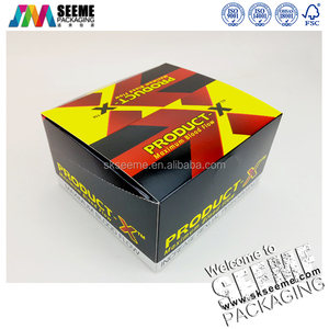Foldable paper display box white card paper box with logo
