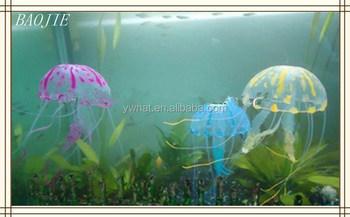 Wholesale Glowing Artificial Jellyfish Ornament For Aquarium Fish ...